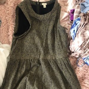JCrew factory herringbone dress